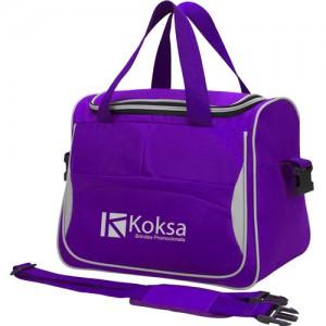 Bolsa personalizada KB300 produzida em tecido Oxford ou Poliéster 600.