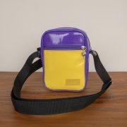 Shoulder bag personalizada roxa e amarela KSHO100